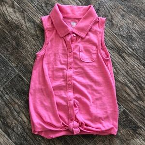 Old navy sleeveless tie front top